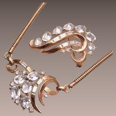 Pre 1955 Trifari Necklace and Brooch Set