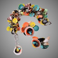 Colorful Shell Bracelet and Earring Set