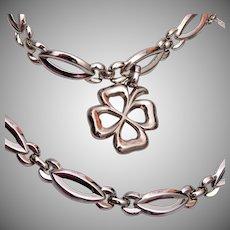 Monet 4 Leaf Clover Bracelet and Necklace Set