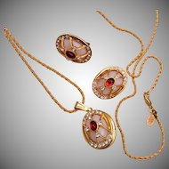 Joan Rivers Jeweled Egg Locket and Earring Set