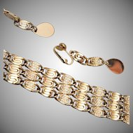 Sarah Coventry S Link Bracelet and Earring Set