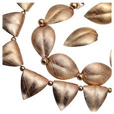 Napier Brushed Gold Tone Leaf Parure