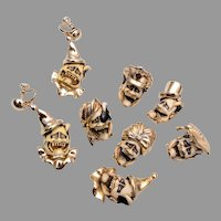 Florenza Fun Devil Face Brooches and Earring Set