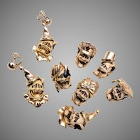 Florenza Devil Face Brooches and Earring Set