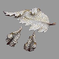 Francois Curled Leaf Set Pave' with Rhinestones
