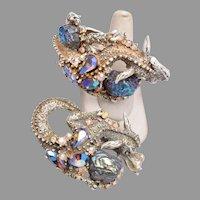 HAR Dragon Bracelet and Brooch Set