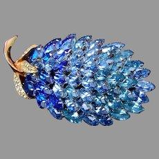 Napier Beautiful Blue Pineapple Brooch