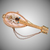 R. Mandle Mandolin Brooch - Book Piece