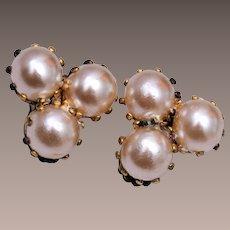 Made in Austria Faux Pearl Earrings