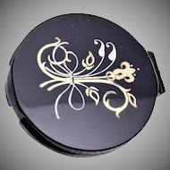 Lady Catherine Black and Gold Compact - Never Used