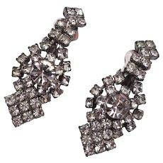 Dangling Prong Set Rhinestone Earrings
