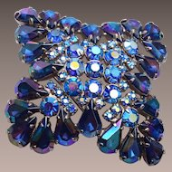 Blue AB Brooch - Lovely Condition