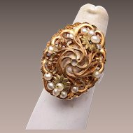 Miriam Haskell Pearl Ring
