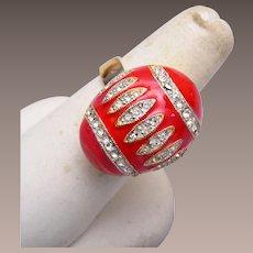 Eisenberg Red Easter Egg Ring