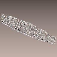 Open Work Silver Tone Bracelet