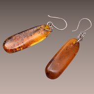 Beautiful Pierced Amber Earrings