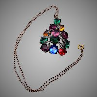 Unfoiled Open Backed Colorful Pendant Necklace