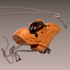 1979 Dave Easely Carved Shoe Pendant