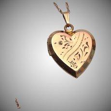 12kt Gold Filled Heart Locket Necklace