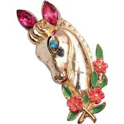 Coro Horse Brooch - Matches Horse Duette