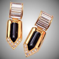 Swarovski Black and Gold Articulate Earrings
