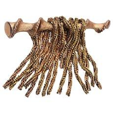 Kramer of New York Gold Chain Brooch