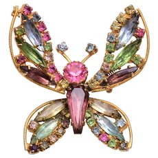 Weiss Trembler Butterfly Brooch