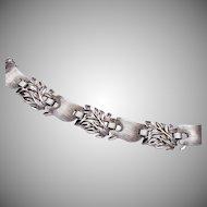 Beautiful Trifari Rhodium Plated Bracelet