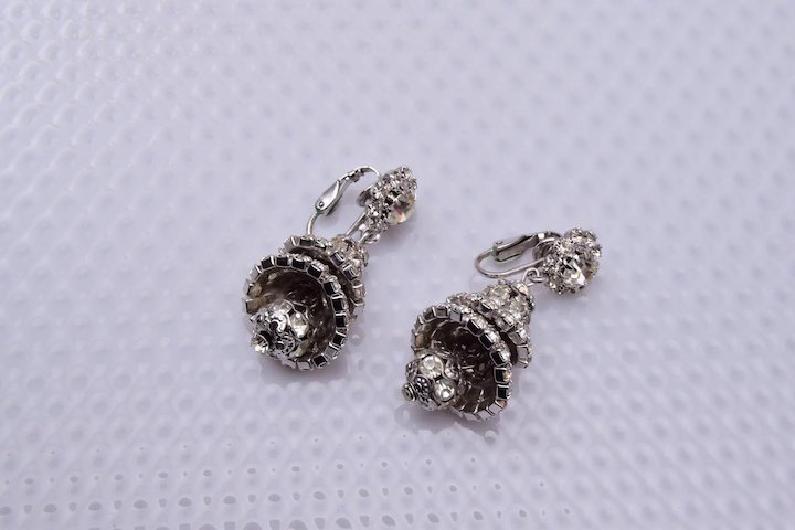 Hattie carnegie chandelier rhinestone earrings the wright glitz hattie carnegie chandelier rhinestone earrings aloadofball Gallery