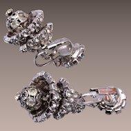 Hattie Carnegie Chandelier Rhinestone Earrings