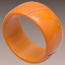 Butterscotch Wide Bakelite Bangle Bracelet