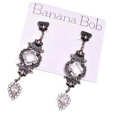 Shoulder Tickling Banana Bob Pierced Earrings