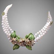 Sandor Enameled Flower Necklace