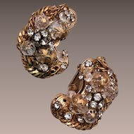 Alice Caviness Crystal and Rhinestone Earrings