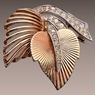 Boucher Beautiful 2 leaf Brooch