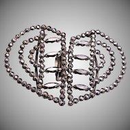 Heart Shaped Cut Steel Buckle