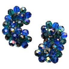Alice Caviness Blue Crystal Earrings
