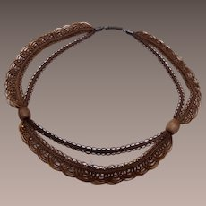 Beautiful Woven Hair Necklace