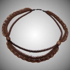 Beautiful Woven Hair Mourning Necklace