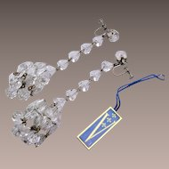 Vendome Chandelier Style Shoulder Tickling Crystal Earrings