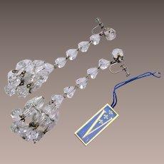 Vendome Chandelier Style Shoulder Tickling Crystal Earrings