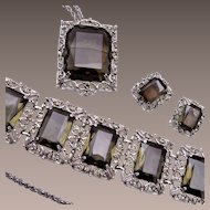 Sarah Coventry Black Diamond Parure