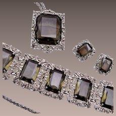 Sarah Coventry Black Diamond Parure