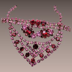 Beautiful Pink and Red Parure