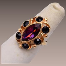 Sarah Coventry Purple Ring Size 7-1/2