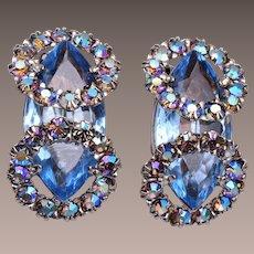 Blue Fabulous Rhinestone Earrings