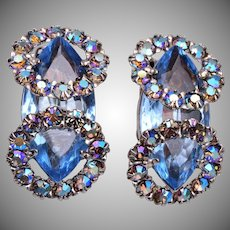 Blue Fabulous Rhinestone Earrings
