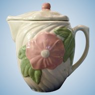 Vintage Pottery Pitcher with Lid from American Bisque Co 1950's