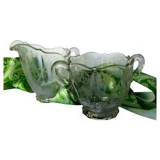 Cambridge Glass ELAINE Pattern Creamer Sugar Set