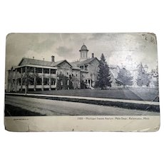 Vintage Postcards from 1900-1925 Depicting City Streets, Landmarks and Kalamazoo Insane Asylum